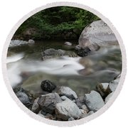 Clear Rapids Round Beach Towel