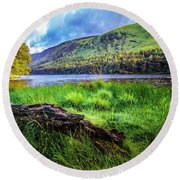 Clear Waters Of Glendalough Round Beach Towel