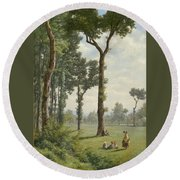 Clearance In An Oak Forest Round Beach Towel