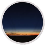 Clearing Skies I Round Beach Towel