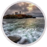 Clearing Storm At Cape Neddick Round Beach Towel