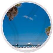 Clearwater Beach Round Beach Towel