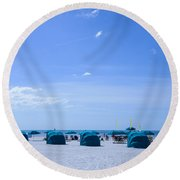 Clearwater Beach Florida Shelters Round Beach Towel