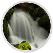 Clearwater Falls 1 Round Beach Towel
