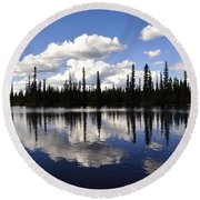 Clearwater Reflections Round Beach Towel