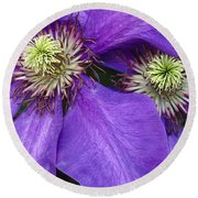 Clematis Detail Round Beach Towel
