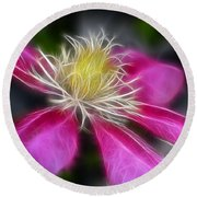 Clematis In Pink Round Beach Towel