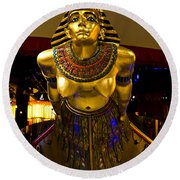 Cleopatra's Barge Round Beach Towel