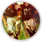 Cleveland Browns 1965 Cb Helmet Poster Round Beach Towel