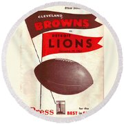 Cleveland Browns Vintage Program 4 Round Beach Towel