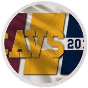 Cleveland Cavaliers Flag Round Beach Towel