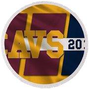 Cleveland Cavaliers Flag2 Round Beach Towel