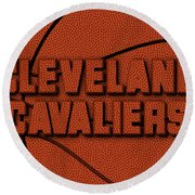 Cleveland Cavaliers Leather Art Round Beach Towel