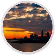 Cleveland Dawn Round Beach Towel