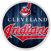 Cleveland Indians Barn Door Round Beach Towel