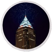 Cleveland Key Building With Electricity Round Beach Towel