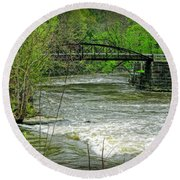 Cleveland Metropark Bridge Round Beach Towel