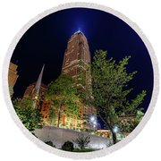 Cleveland On The Rise Round Beach Towel