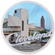 Cleveland Updated View Round Beach Towel