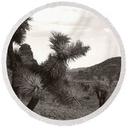 Cliff Between Joshua Round Beach Towel