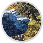 Cliff Face Round Beach Towel