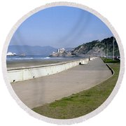 Cliff House San Francisco Round Beach Towel