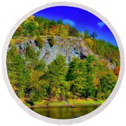 Cliff Of Color Round Beach Towel