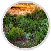 Cliff Palace At Mesa Verde National Park - Colorado Round Beach Towel
