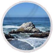 Cliffhouse Rocks Round Beach Towel
