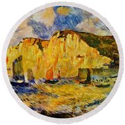 Cliffs 1883 Round Beach Towel