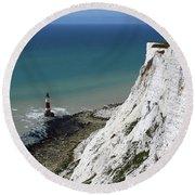 Cliffs At Beachy Head East Sussex Round Beach Towel