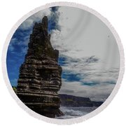 Cliffs Of Moher Stack Round Beach Towel