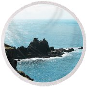 Cliffs Round Beach Towel