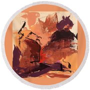 Cliffside Round Beach Towel