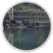 Clinch River Beauty Round Beach Towel