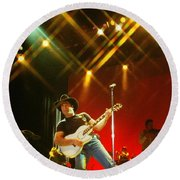 Clint Black-0824 Round Beach Towel