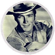 Clint Eastwood, Actor/director Round Beach Towel