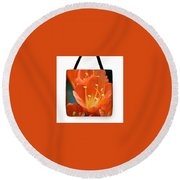 Clivia Tote Bag Round Beach Towel