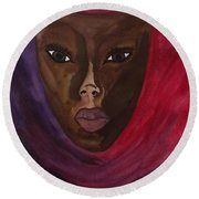 Cloaked Or Mask Round Beach Towel