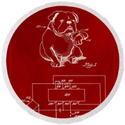 Clock For Keeping Animal Time Patent Drawing 1b Round Beach Towel
