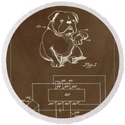 Clock For Keeping Animal Time Patent Drawing 1c Round Beach Towel
