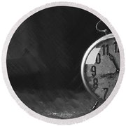 Clock - Id 16218-130631-3641 Round Beach Towel