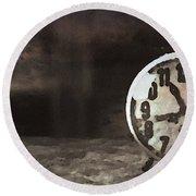 Clock - Id 16218-130649-1306 Round Beach Towel