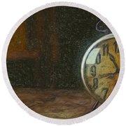 Clock - Id 16218-130715-1843 Round Beach Towel