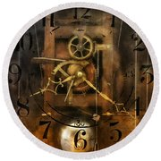 Clockmaker - A Sharp Looking Time Piece Round Beach Towel