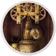 Clockmaker - The Mechanism  Round Beach Towel