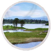 Cloonee Lough - Ireland Round Beach Towel