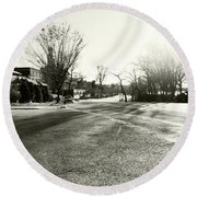 Close To Asphalt Round Beach Towel