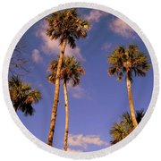 Close To The Clouds Round Beach Towel