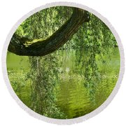 Close To Water Round Beach Towel